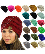 CC Beanie New Womens Knit Slouchy Oversized Thick Cap Hat Unisex Slouch ... - $8.59+