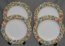 1996 Set (4) Royal Doulton JACOBEAN PATTERN Dinner Plates - $55.43