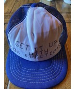 Get It Up With Cox Erections Hat Cap Baseball Mesh Foam Vintage Young An... - $24.75