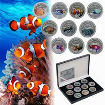 WR 10pcs Marine Animals Fish Silver Challenge Coin Sea's Amazing Wildlif... - $25.20