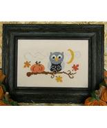 Fall Owl cross stitch chart Cherry Hill Stitchery - $5.40