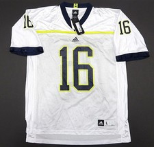NWT ADIDAS Michigan Wolverines #16 White Football Jersey Men's Size Large - $79.15
