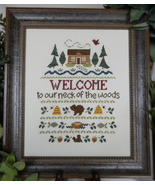 Welcome To Our Neck Of The Woods cross stitch chart Cherry Hill Stitchery - $7.20