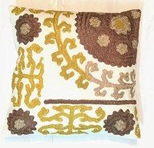 Traditional Jaipur Suzani Pillow, Indian Cushon Cover 16x16, Decorative ... - $19.59