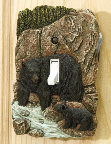 Primary image for Rustic Switch Cover  Bear