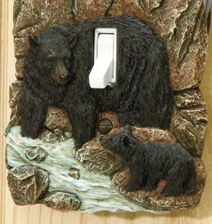 Rustic Switch Cover  Bear