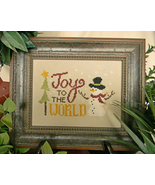 Joy To The World christmas cross stitch chart Cherry Hill Stitchery - $5.40