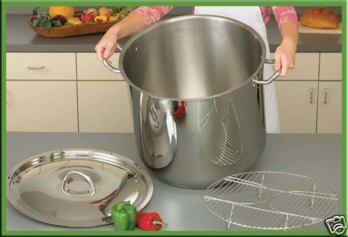 65qt 12-Element T304 Stainless Steel Stockpot with Stay Cool Handles 16 Gallon