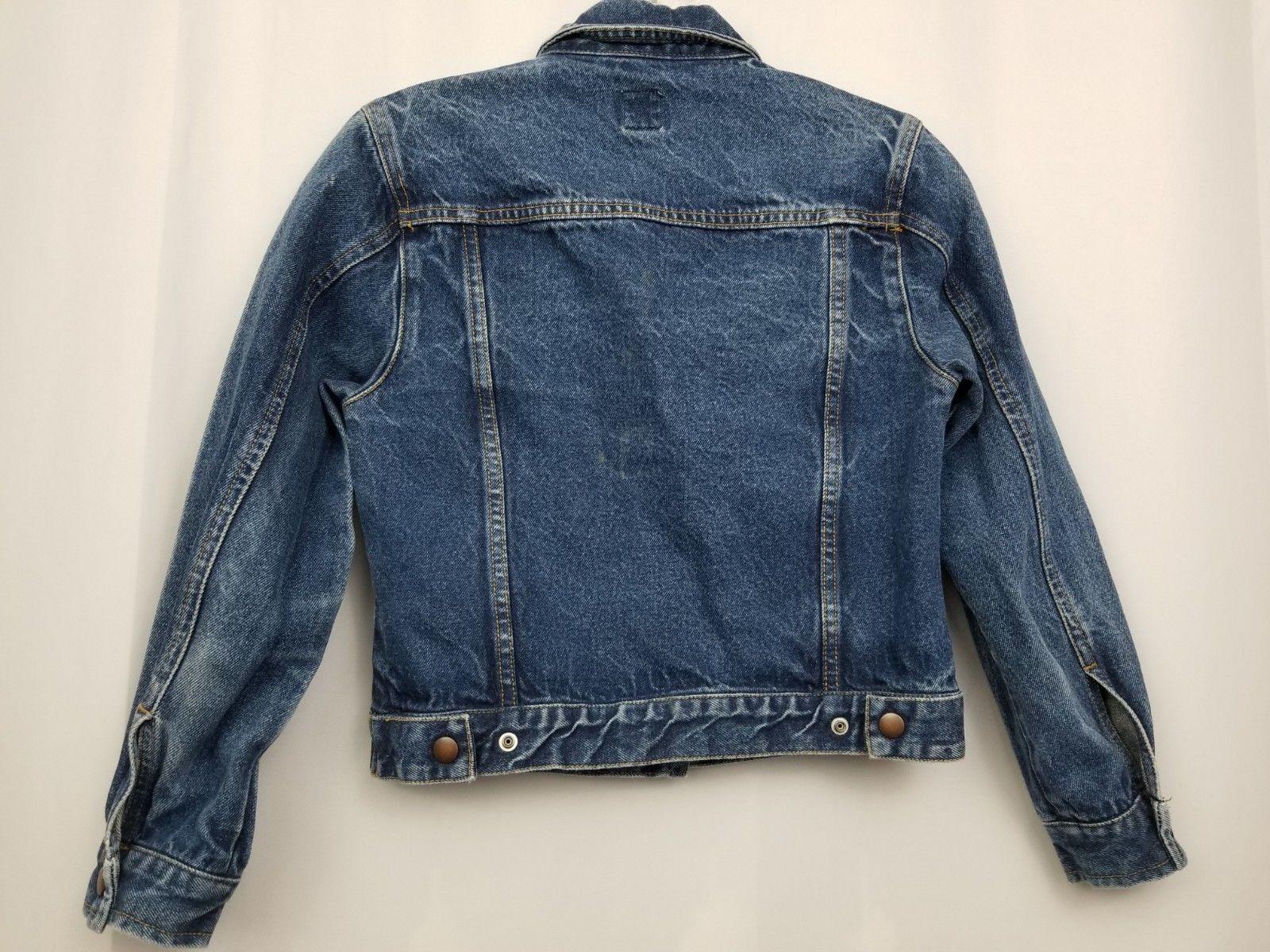 GAP Kids Denim Jean Jacket Coat Long Sleeve Blue Pockets Large Factory Store image 6