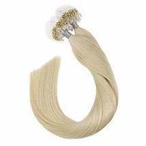 Ugeat Micro Ring Links Hair Extensions 22 Inch Micro Loop Human Hair Extensions
