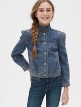 NWT $68 GAP Kids Girls Puff Sleeve Denim Jean Jacket XL 12 - $35.63