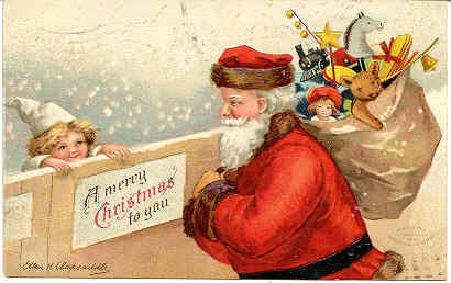 A Merry Christmas To You 1908 Ellen Clapsaddle Post Card