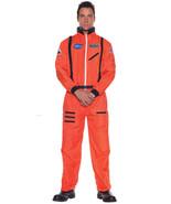 Adult Orange Astronaut Nasa Jumpsuit Mens Space Shuttle Suit Costume Avi... - $34.90