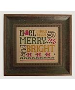 Christmas Tidings cross stitch chart Cherry Hill Stitchery - $5.40