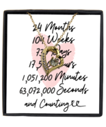 2nd Anniversary Message Card Necklace, 2 Year and Counting Anniversary  - £21.78 GBP