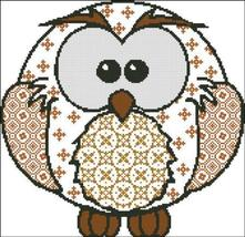 Owl Patchwork cross stitch chart Pinoy Stitch - $7.20