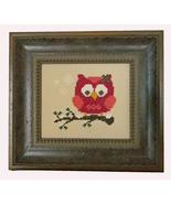 Red Christmas Holiday Owl cross stitch chart Cherry Hill Stitchery - $5.40
