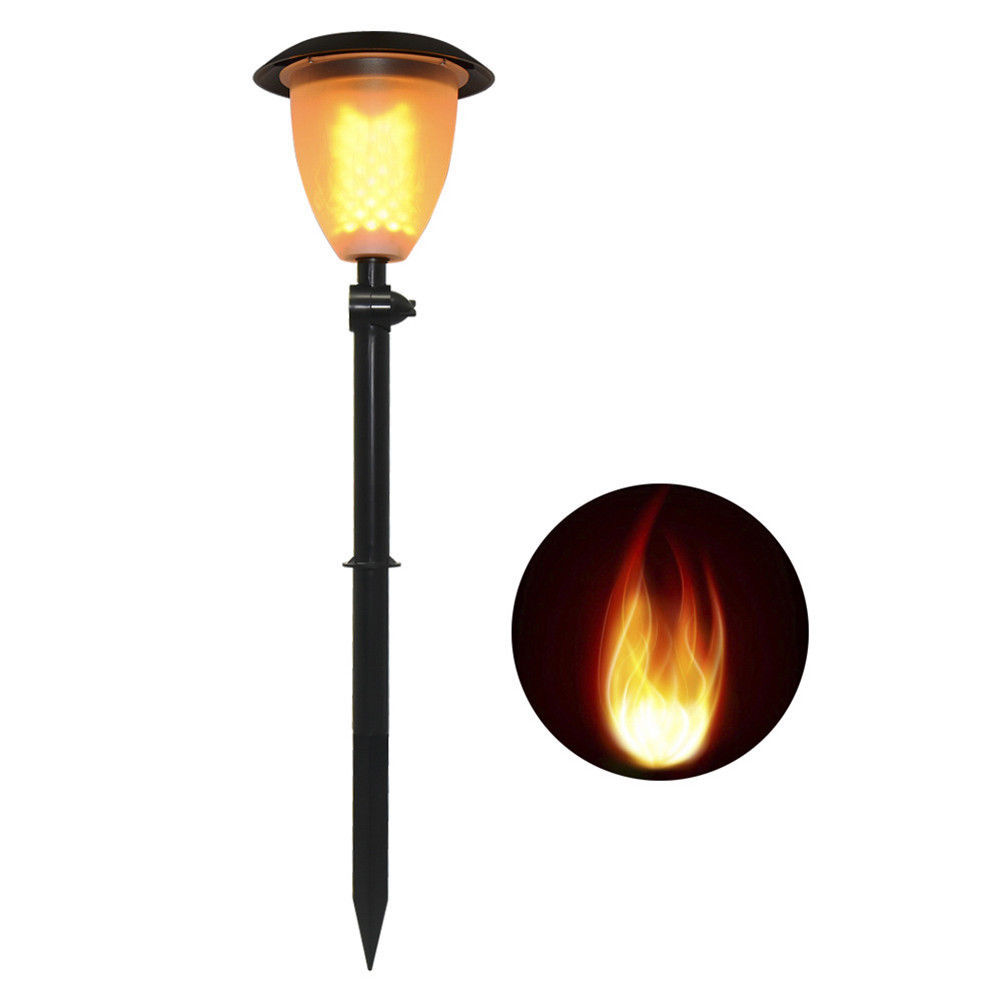 Flame Solar Power Torch Light 99 LED Flickering Stake ...