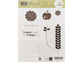 Stampin' Up! Apple Blossoms Rubber Stamp Set #120139 - $11.99