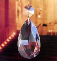 12Pcs Clear Glass Crystal Angel Tear Chandelier Prism Pendants Trimming 38MM - $12.19