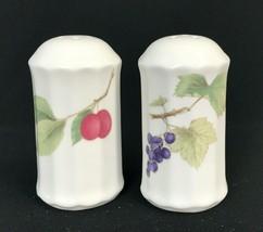 Mikasa Maxima Belle Terre Salt & Pepper Shaker Fine China Botanical Made... - $37.36