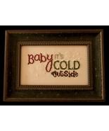 Baby It's Cold Outside cross stitch chart Cherry Hill Stitchery - $5.40