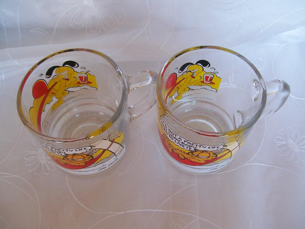 1978 McDonalds- Garfield Collectible Coffee Mug/Cup -Jim Davis– Lot 2