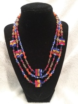 Three-Strand Beaded Necklace  - $45.00