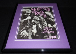 Sex Drugs Rock & Roll 2015 FX Framed 11x14 ORIGINAL Advertisement Denis ... - $22.55
