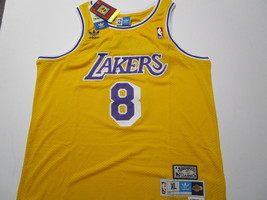 KOBE BRYANT / NBA HALL OF FAME / AUTOGRAPHED L.A. LAKERS THROWBACK JERSEY / COA image 2