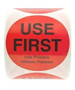 "USE FIRST Red Label 3"" Inch Stickers 500 count - $14.95"