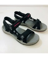 MERRELL Cedrus Sandals Convertible Black Rose Red Womens US Size 9 Mint - $58.36
