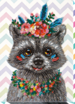 "Bead Embroidery DIY Kit ""Raccoon wanted"" 9.0""х12.6"" - $75.95"