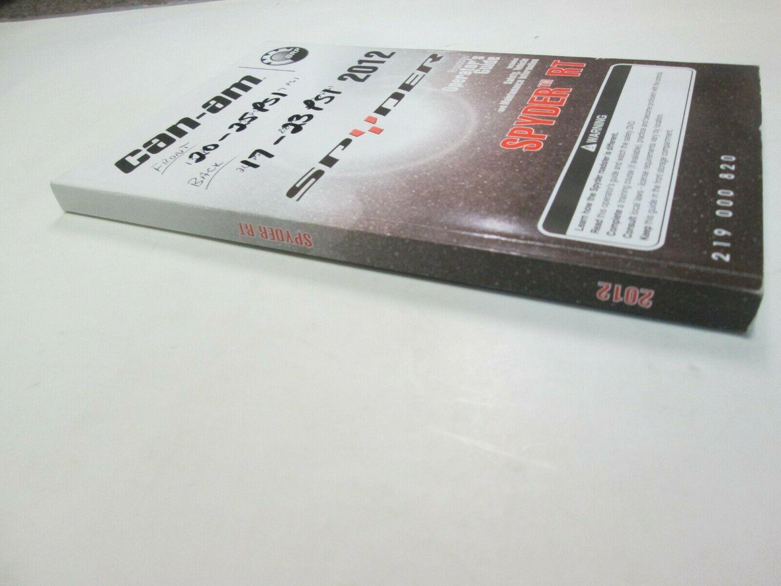 2012 Kann Spyder Rt Roadster Betreiber Führung Manuell 219000820 Fabrik OEM ***