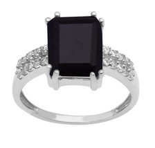Black Spinel,White Topaz 925 Sterling Silver Ring Shine Jewelry Size-10 ... - €14,64 EUR