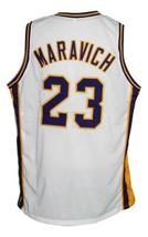 Pete Maravich #23 College Basketball Jersey New Sewn White Any Size image 2