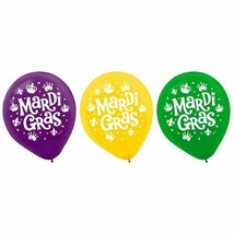 "Mardi Gras Helium Quality Latex Balloons 12"" Assorted Colors 15 Ct - $3.99"