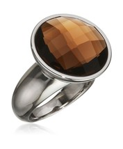 Tamaris Women's Ring Stainless Steel Glass Jane Brown Size 52 (16.6)-A03... - $29.92