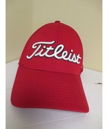 Titleist Mens Golf Hat Red Pro V1 FJ Footjoy Baseball Cap Size Small Medium - $16.99