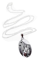 "Moon Gazing Hare Pendant 18"" Silver Tone Chain Necklace Pagan Wiccan  Boxed - $8.91"