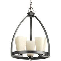 Progress Lighting P4811-84 Ridge 16-in 3-Light Espresso Tinted Glass Shaded Chan - $148.36