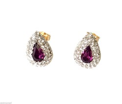 18 CARAT 750/000 YELLOW GOLD Drop EARRINGS WITH... - $168.30