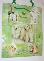 Soft Coated Wheaten Terriers Gift Bag Present Handles Green Tag Dog Pupp... - $5.93