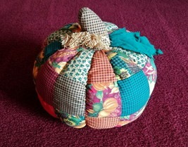 Fall/Autumn Harvest Quilted Pumpkin - Good Used Condition!!  - $5.45