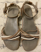 KEEN Emerald City II US 10 Shitake/Pumice Stone Leather Sandals Ankle Strap C7 - $24.75