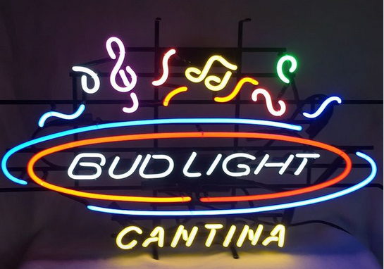 "New Bud Light Cantina Beer Neon Light Sign 24""x20"""