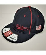 Richardson FLEXFIT Flat Brim Ball Cap/Hat-Black w/Red Trim w/Decor-PTS 2... - $15.75
