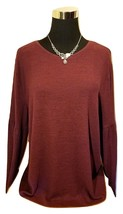 Women's Wine Red Angel Sleeve Fuzzy Soft Knit Sweater -XL - $30.00