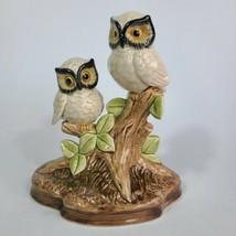 Vintage OMC Porcelain Owls On Branch Otagiri Japan Beautiful  - $24.74
