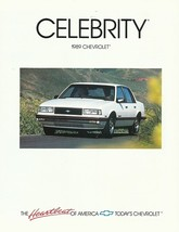 1989 Chevrolet CELEBRITY sales brochure catalog folder US 89 Chevy Euros... - $6.00